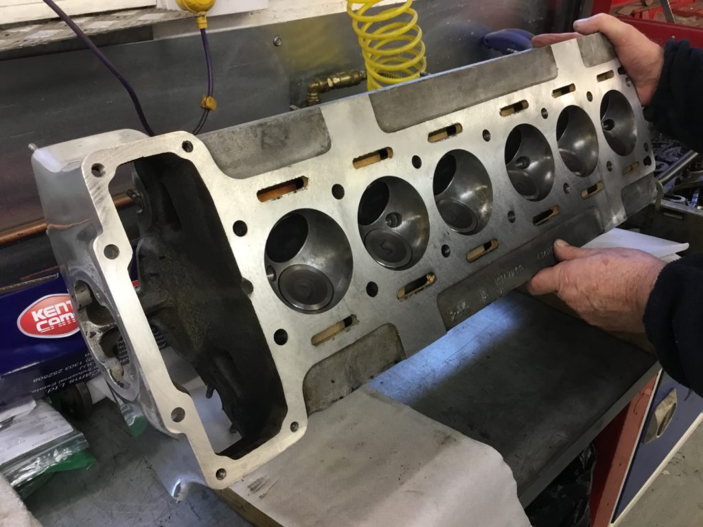 Jaguar engine head, skimmed and ready for fitting