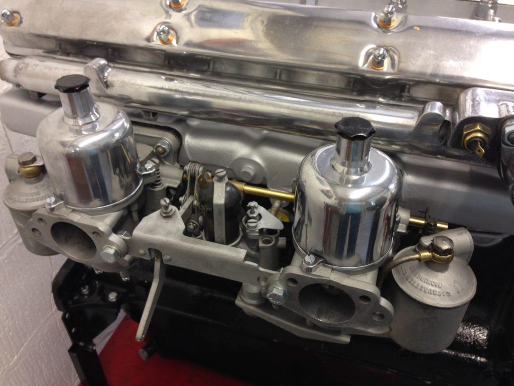 Restored Twin SU Carburettors