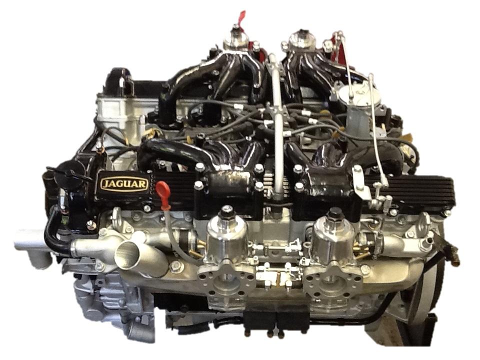 Fully restored Jaguar V12 Engine