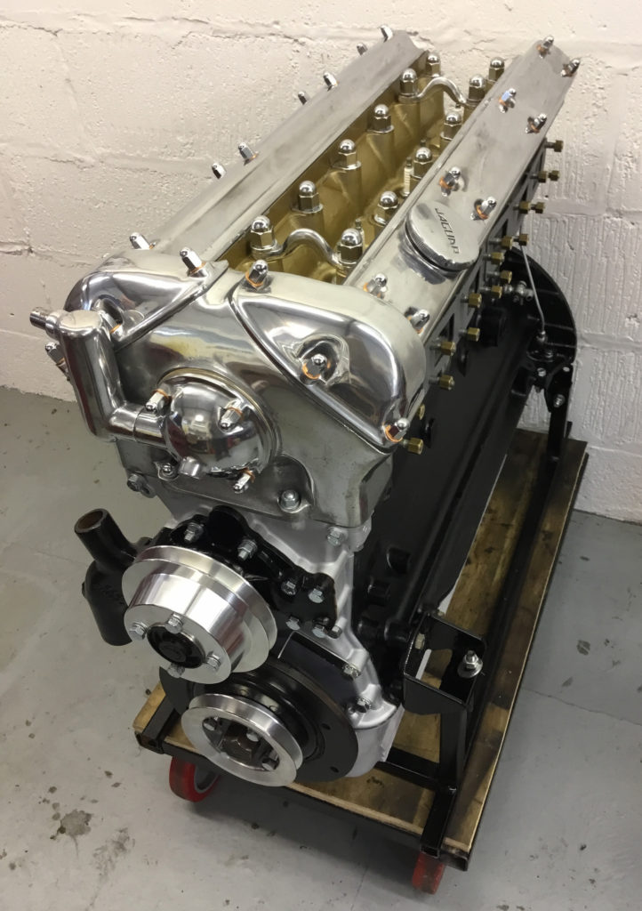 Bare Jaguar E-Type Engine